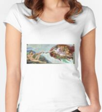 creation of adam  Women's Fitted Scoop T-Shirt