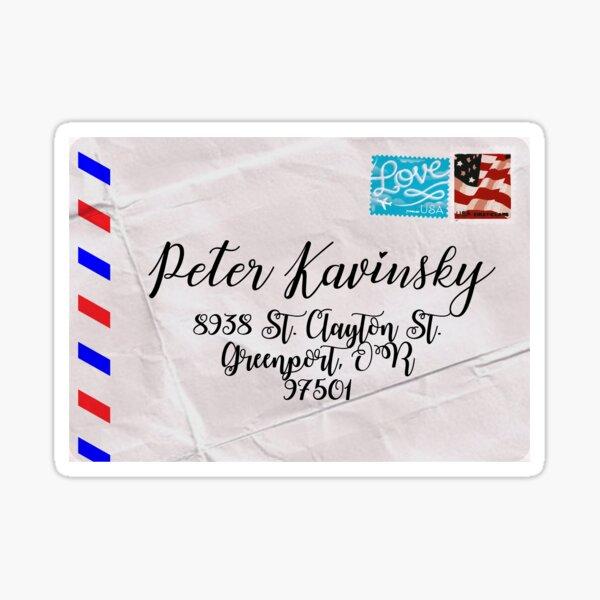 Peter Kavinsky's Letter Sticker