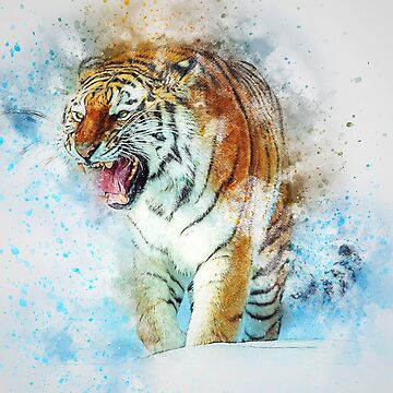 PAPER TIGER IN BLUE by ArtbyCPolidano