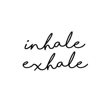 Inhale Exhale - Minimalist Print by Shrijit
