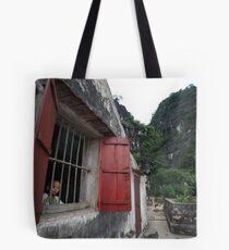 Boy in the Window Tote Bag