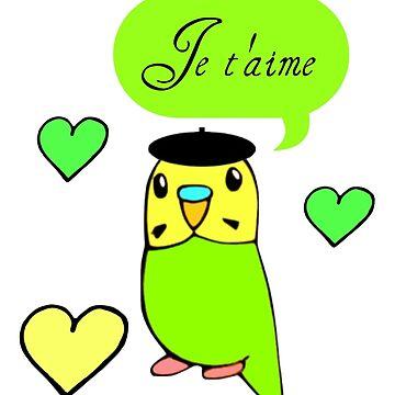 Je t'aime by parakeetart