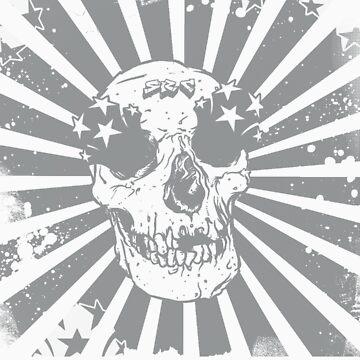 SRC metallic skull by punkrocksurfer