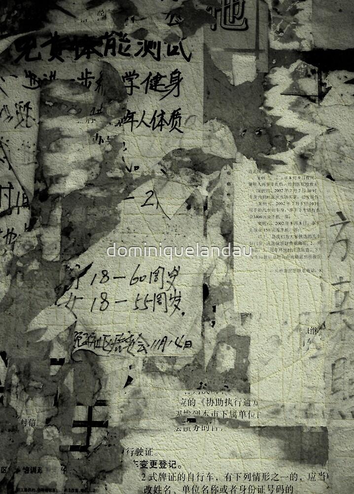 China wall by dominiquelandau