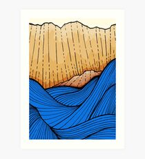 The bold blue sea  Art Print