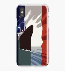 French 3d nautical travel design iPhone X Case
