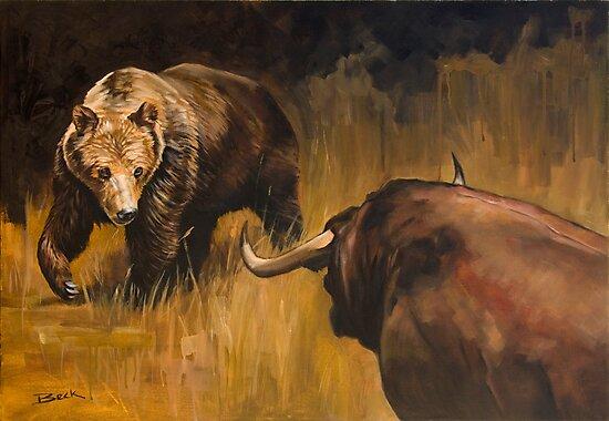 Bear Vs Bull by Andy Beck