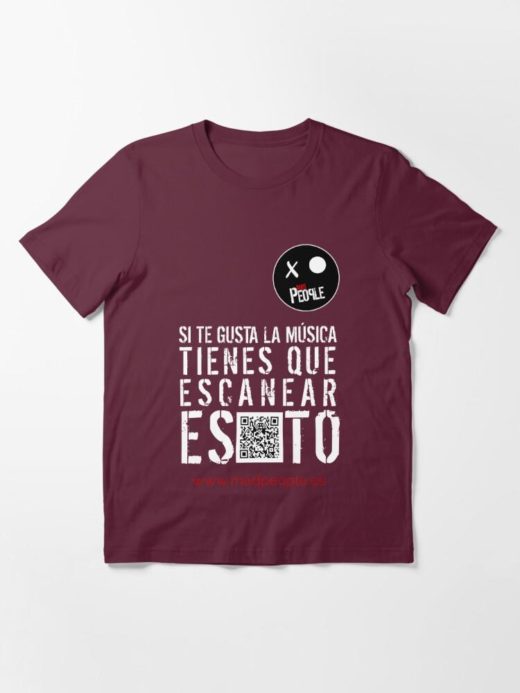 Vista alternativa de Camiseta esencial Mad People - Si te gusta la música