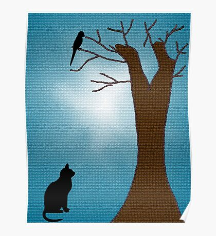 Bird Watching Cat Poster