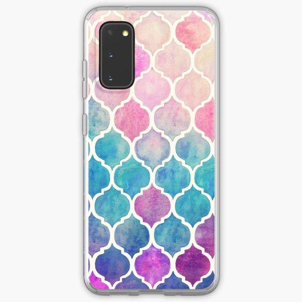 Rainbow Pastel Watercolor Moroccan Pattern Samsung Galaxy Soft Case