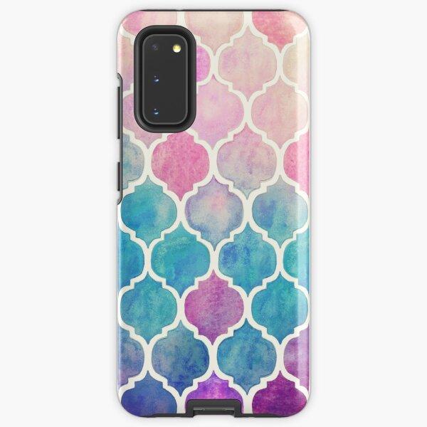 Rainbow Pastel Watercolor Moroccan Pattern Samsung Galaxy Tough Case