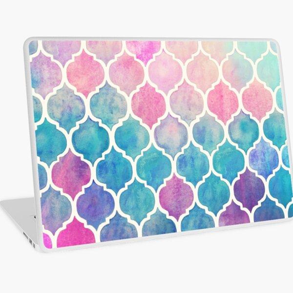 Rainbow Pastel Watercolor Moroccan Pattern Laptop Skin