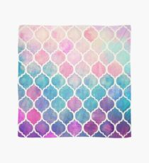 Rainbow Pastel Watercolor Moroccan Pattern Scarf