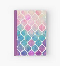 Regenbogen Pastell Aquarell marokkanischen Muster Notizbuch