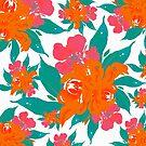 """«""""Floral clásico de colores vivos Tropical""""» de MarCanton"""
