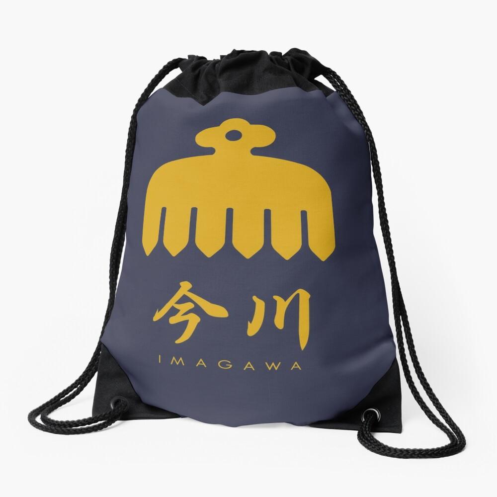 Imagawa Clan kamon with text Drawstring Bag
