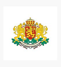 Coat of arms of Bulgaria Photographic Print
