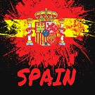 Spain Soccer Jersey Shirt Flag by 7United