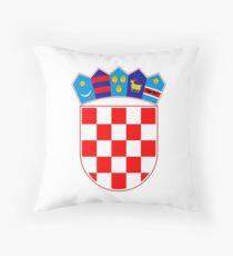 Coat of arms of Croatia Throw Pillow