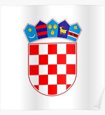 Coat of arms of Croatia Poster