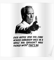 Póster Clint Eastwood - Gran Torino