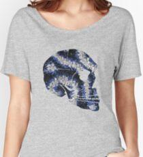 Flower Skull Blue Women's Relaxed Fit T-Shirt