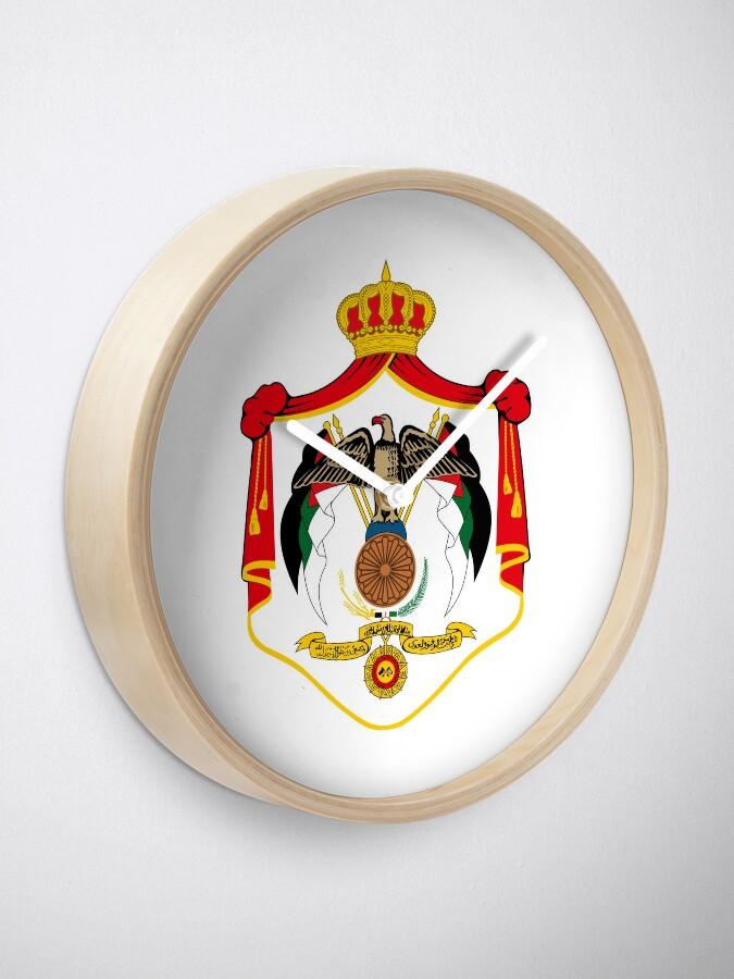 Alternative Ansicht von Wappen von Jordanien Uhr