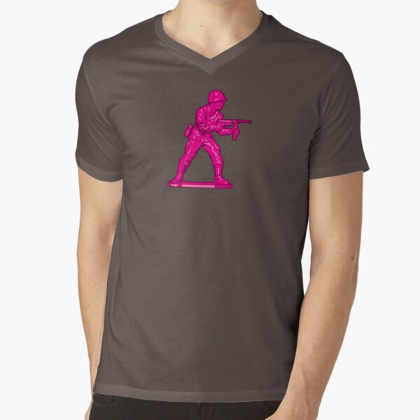 Toy Soldier [pink] V-Neck T-Shirt
