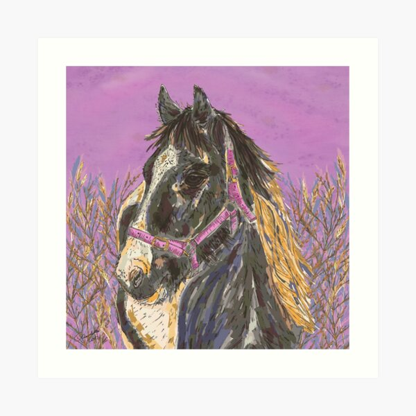 Horse with the Golden Mane Art Print