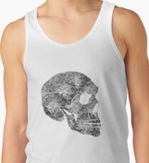 Flower Skull Grey Tank Top