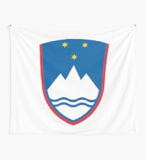 Coat of arms of Slovenia Wall Tapestry