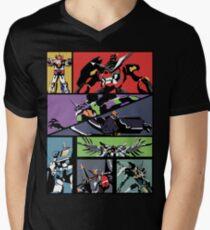 Super Robots V-Neck T-Shirt