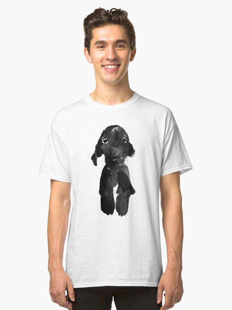 black dog Classic T-Shirt Front