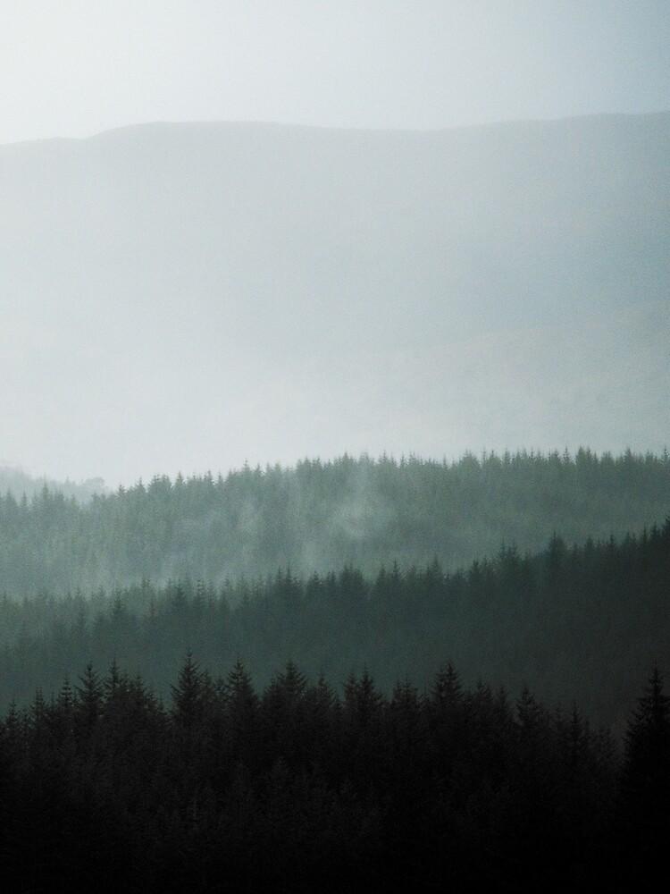 «Brume dans les highlands écossaises» par patricemestari