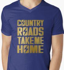 Camiseta para hombre de cuello en v Los caminos rurales me llevan a casa - camisa Fallout 76