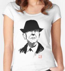 Leonard Cohen Tailliertes Rundhals-Shirt