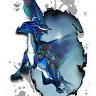 Little dragon in blue by Andrea Tiettje