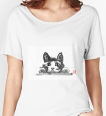 hiding cat Women's Relaxed Fit T-Shirt