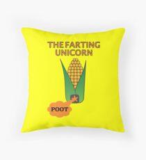 The Farting Unicorn - Tesla safe Throw Pillow