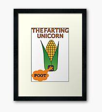 The Farting Unicorn - Tesla safe Framed Print