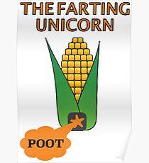 The Farting Unicorn - Tesla safe Poster