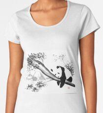 panda sleeping in the tree Women's Premium T-Shirt