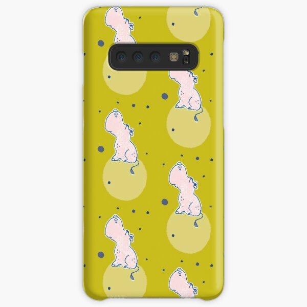 Nilpferd, Flusspferd - grün gemustert Samsung Galaxy Leichte Hülle