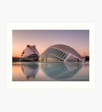 Lámina artística City of Arts and Sciences, Valencia
