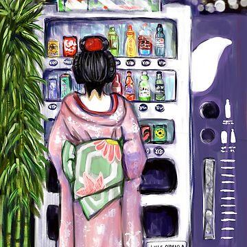 Geisha at Vending Machine  by lyle23