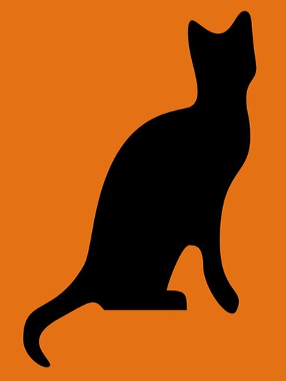 Black Cat Smooth Silhouette by taiche