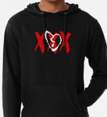 White Broken Heart XXX Lightweight Hoodie