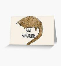 Retten Sie Pangolins: Niedliches Pangolin-Design Grußkarte