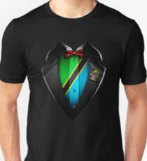 Tanzania Flag Tanzanian Roots DNA and Heritage Tuxedo Unisex T-Shirt
