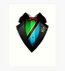 Tanzania Flag Tanzanian Roots DNA and Heritage Tuxedo Art Print